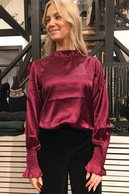 Frill Neck Satin Blouse
