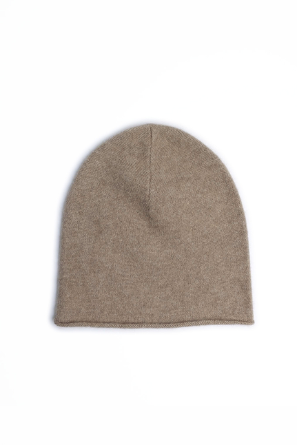 Lisa Yang - Rolled Edge Plain Knit Beanie