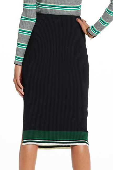 Sport Striped Knitted Midi Skirt
