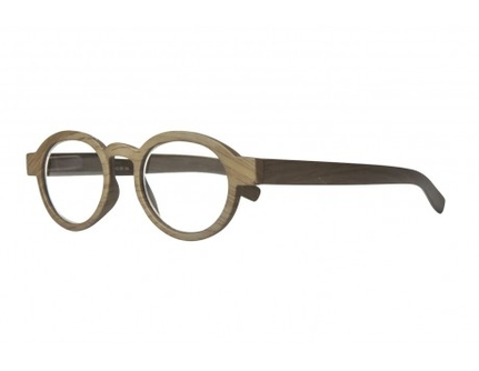 Regina Olive wood-look Reading Glasses