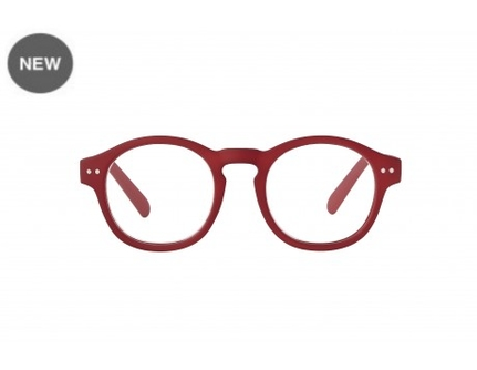 Ceasar red rubber Reading Glasses