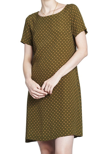 Mini flared dress with polka dots