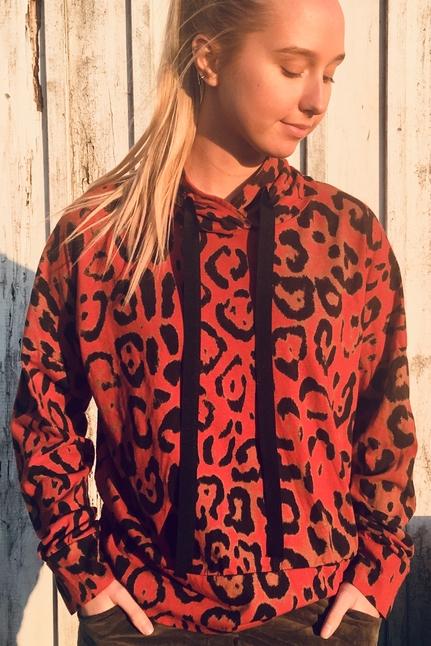Leopard Hoodie Rost