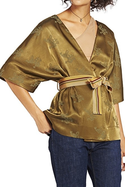Kimono Jacket  With Dragon's Embroidery