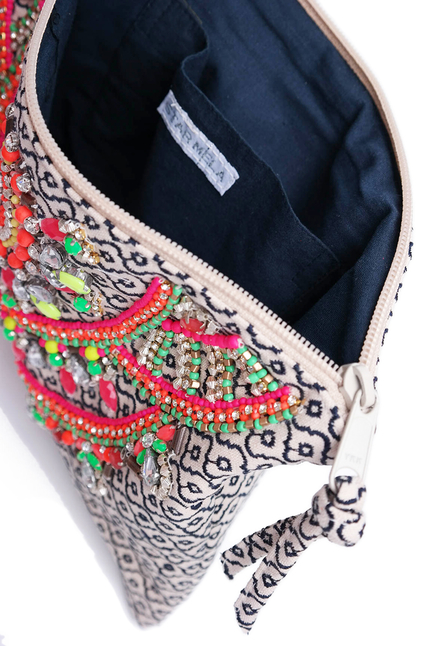 Star Mela Clutch Embroidery