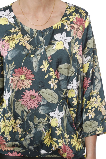 Flower Wrap Blouse