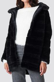 Panel Fux Fur Jacket