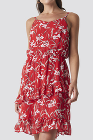 Strap Frill Dress