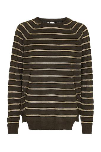 Constantina Sripey Gold Sweater