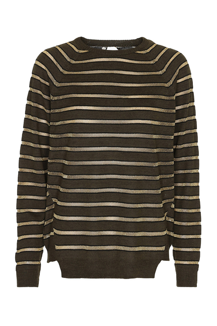Constantina Stripey Gold Sweater