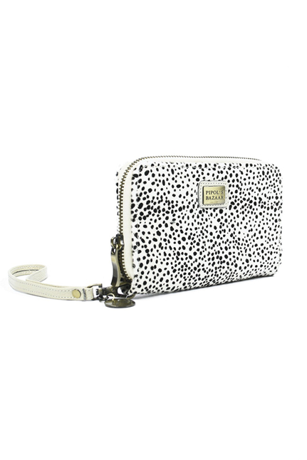 Fony Furry Wallet Geo White - Piplos Bazaar