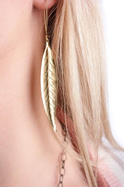 Thin Leaf Earring