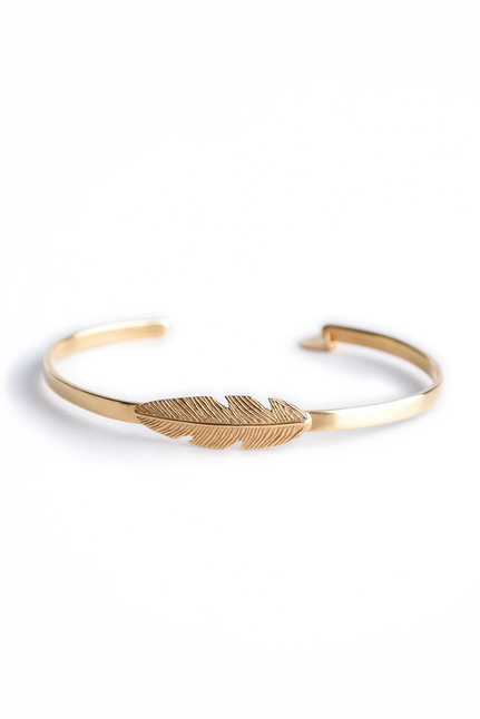 Syster P - Feather Bangle Gold