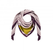 Striped Silk Blend Scarf Port