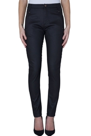 Jolie Black Coated Pants
