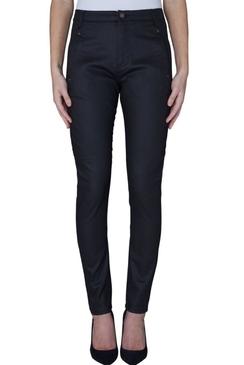 Jolie Black Coated Pants