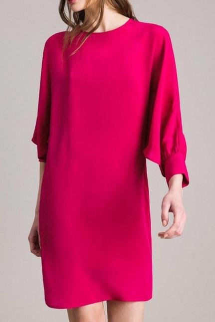 Silk blend tunic dress