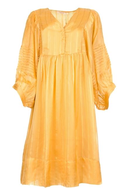 Elly Lurex Stripe ls Short Dress