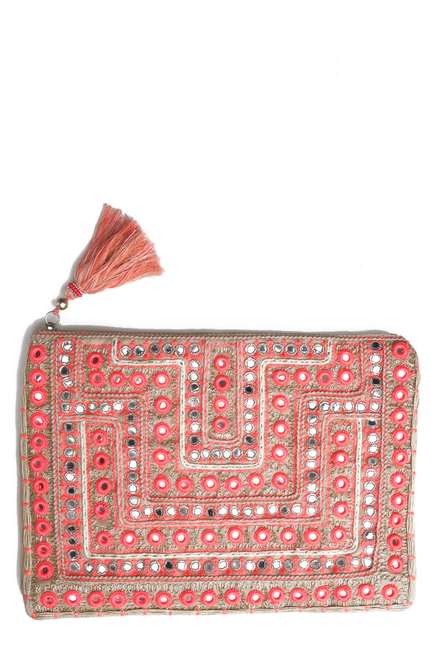 Star Mela Clutch Beige