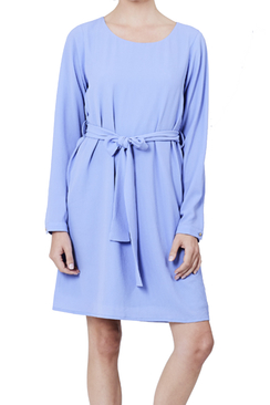 Blue Love Belt Dress