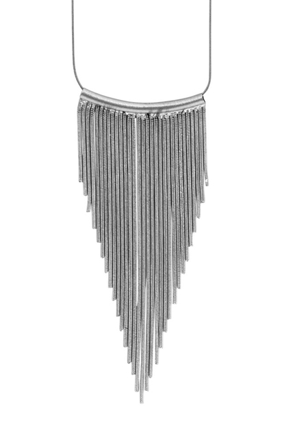 Tazia Waterfall Necklace Silver