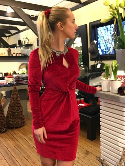 Röd Sammets klänning