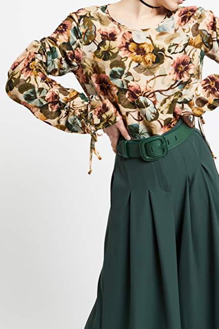 Viscose Blouse With Ruches