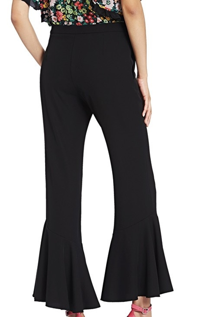 Cropped Trousers With Ruches