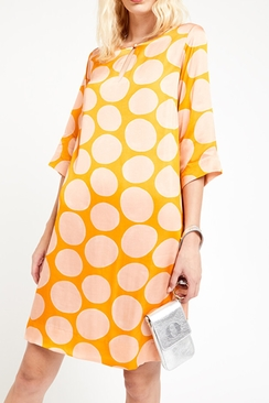 Viscose Dress With Macro Polka Dots