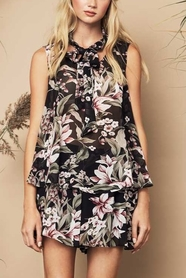 Amelie Top Black Floral