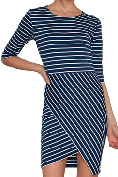 Lisa Dress Blue Stripe