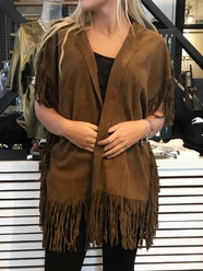 Trudy Suede Fringed Jacket
