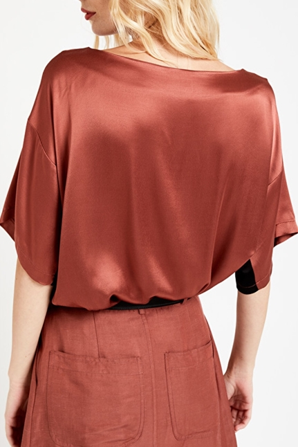 Viscose Blouse With Bands