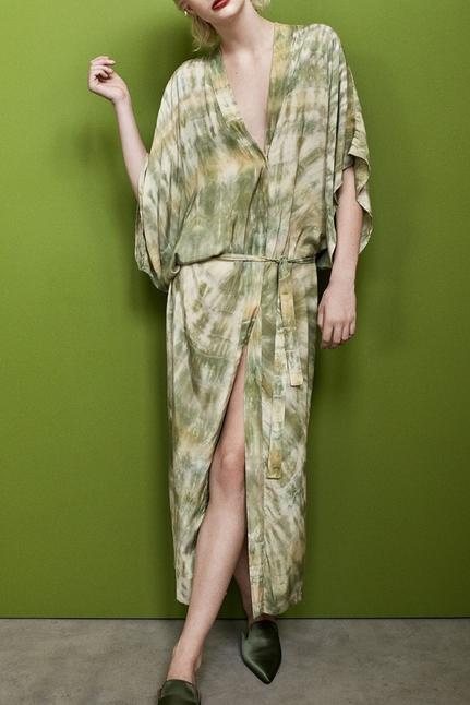 Helle Lava Long Kimono Dress