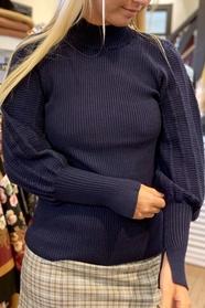 Gudrun Balloon Arm Polo Knit
