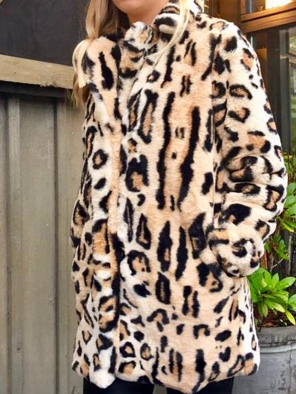 Leopard Fake Fur Jacket