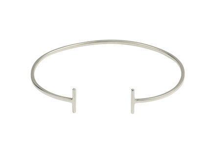Strict Plain Bangle Bars Silver