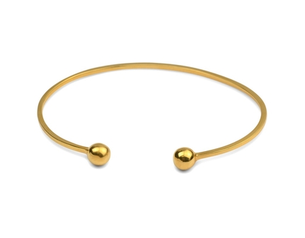 Strict Plain Bangle Ball Guld