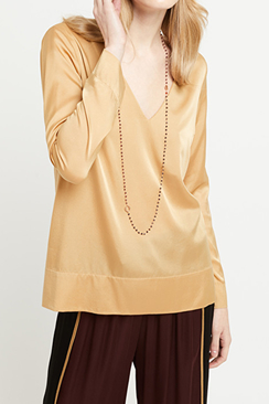 Satin Gold Shirt
