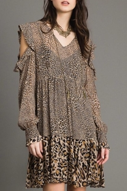 Animal Print Georgette Dress