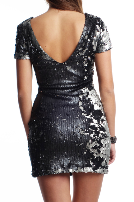 Dry Lake Carita Sequin Short Dress
