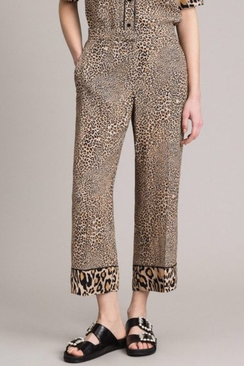 Animal Print Crêpe Trousers