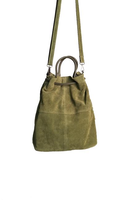 Grön mocka Väska