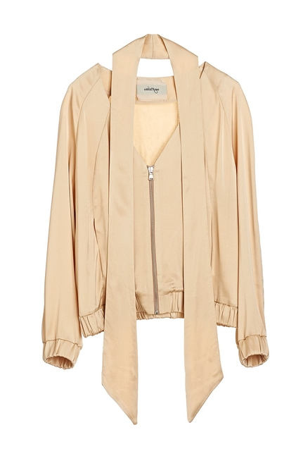 Viscose Zipped Coat - Ottod'Ame