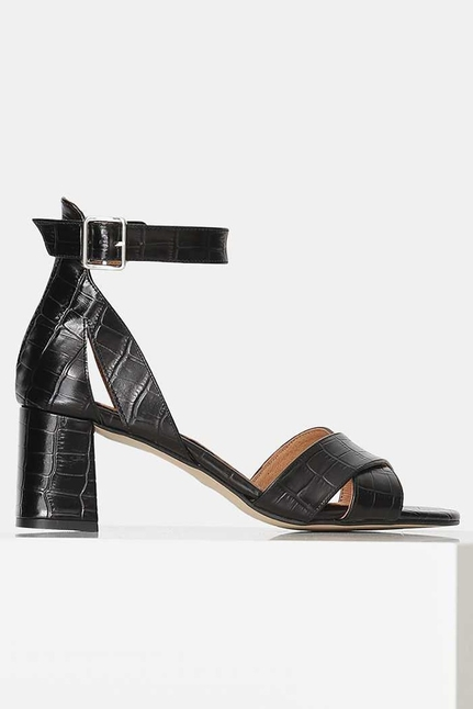 May Cross Croco Sandal