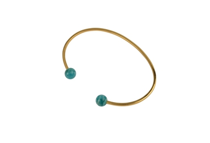 Planet Bracelet Gold Amazonite