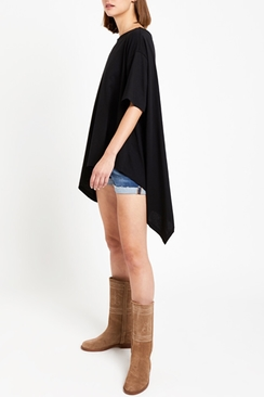 Oversized Cotton Blouse With Asymmetric Bottom