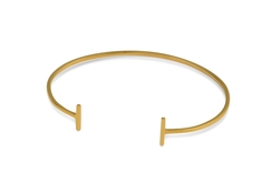 Strict Plain Bangle Bars, Gold