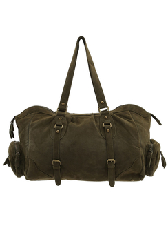 Elba Suede Shoulder Bag