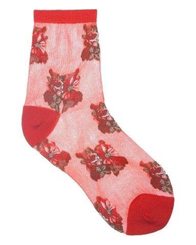 Red Flower Socks